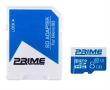 Prime UHS-I U1 Class 10 8GB 48MBps microSDHC With Adapter
